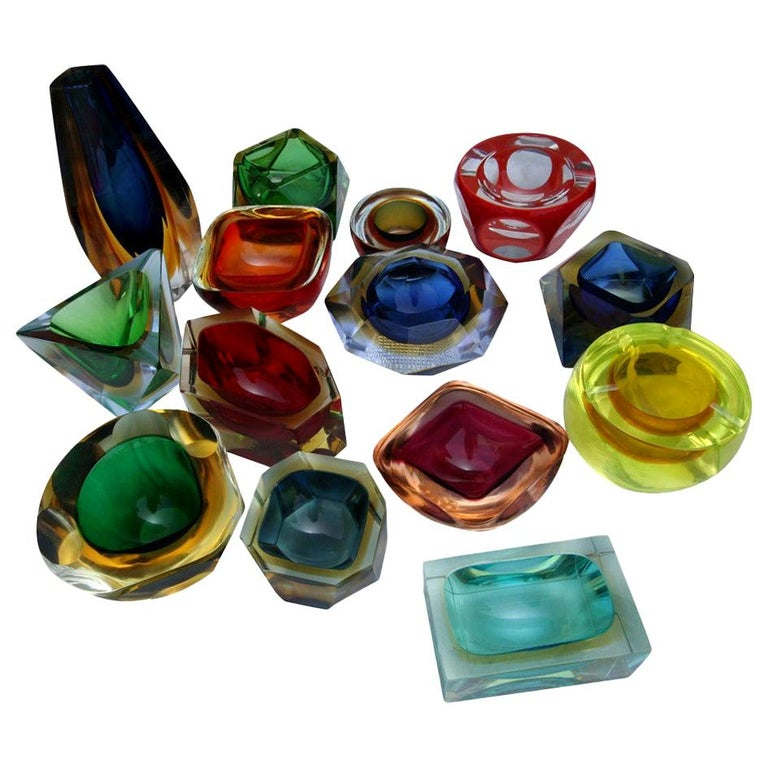 Collection of Colorful Murano Glass Pieces For Sale