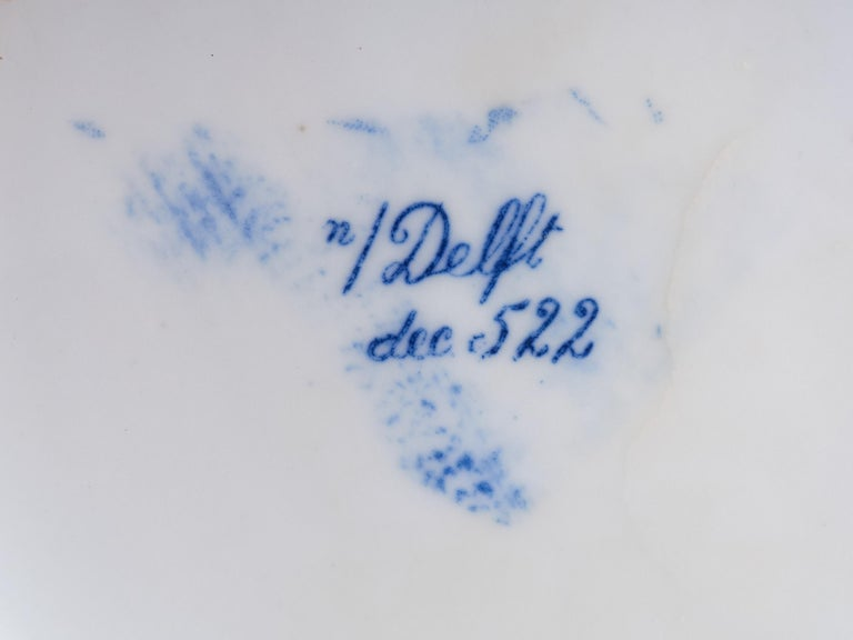 Collection of Delft Blue Hand Painted Ceramics For Sale 7