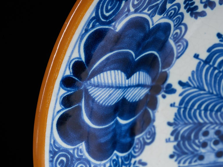Hand-Painted Collection of Delft Blue Hand Painted Ceramics For Sale