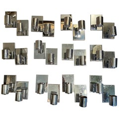Collection of Designer Lite Trend Mid-Century Modern Chrome Single Light Sconces