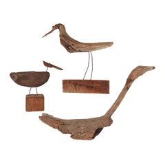 Collection of Driftwood Shore Bird Sculptures, Gloucester, MA, circa 1960s-1970s