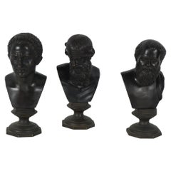 Collection of Early 19th Century Grand Tour Bronze Busts