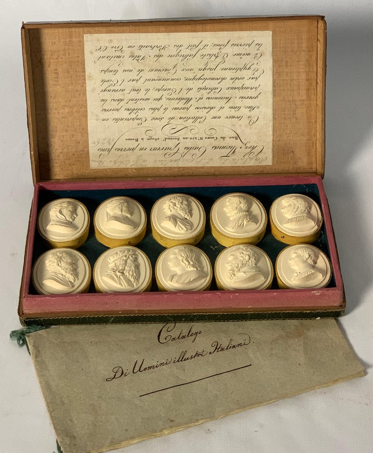 Grand Tour Collection of Early 19th Century Italian Intaglios For Sale