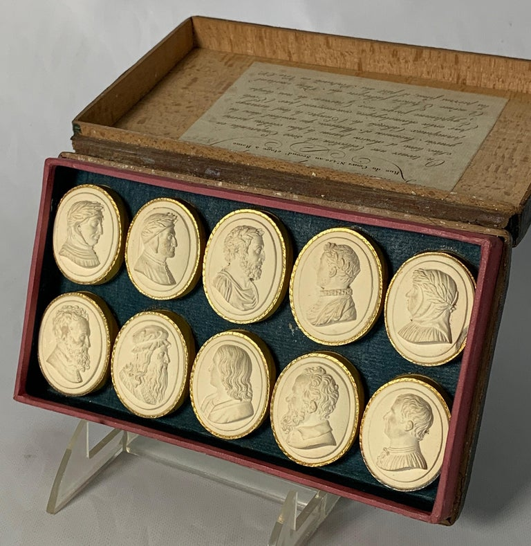 Plaster Collection of Early 19th Century Italian Intaglios For Sale