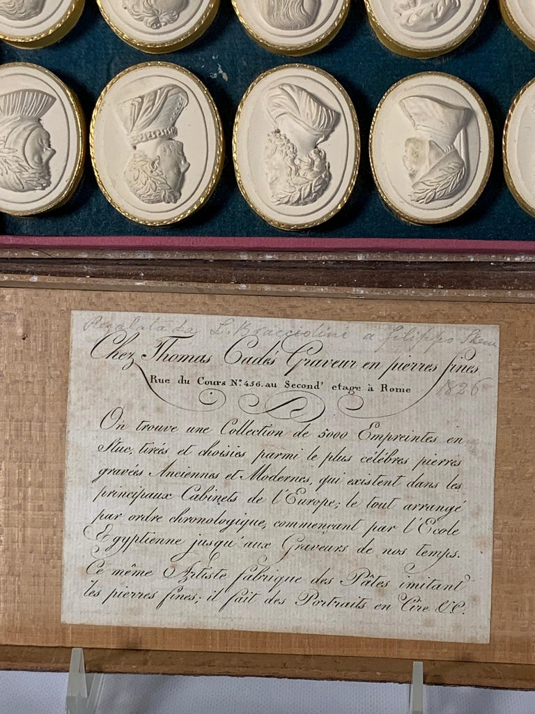 Collection of Early 19th Century Italian Intaglios For Sale 3