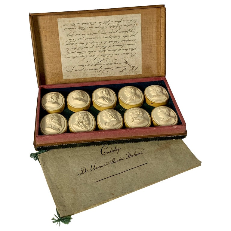 Collection of Early 19th Century Italian Intaglios For Sale