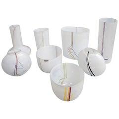 Collection of Eight Vases Designed by Bertil Vallien for Kosta Boda