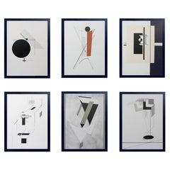 Collection of El Lissitzky Constructivist Prints