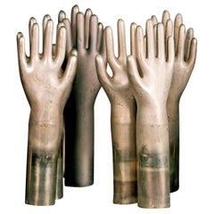 Collection of Eleven Aluminum Glove Molds