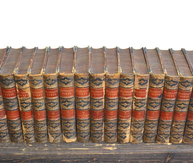 Embossed Collection of English Leather Bound Works by William M. Thackray, Series 209 For Sale