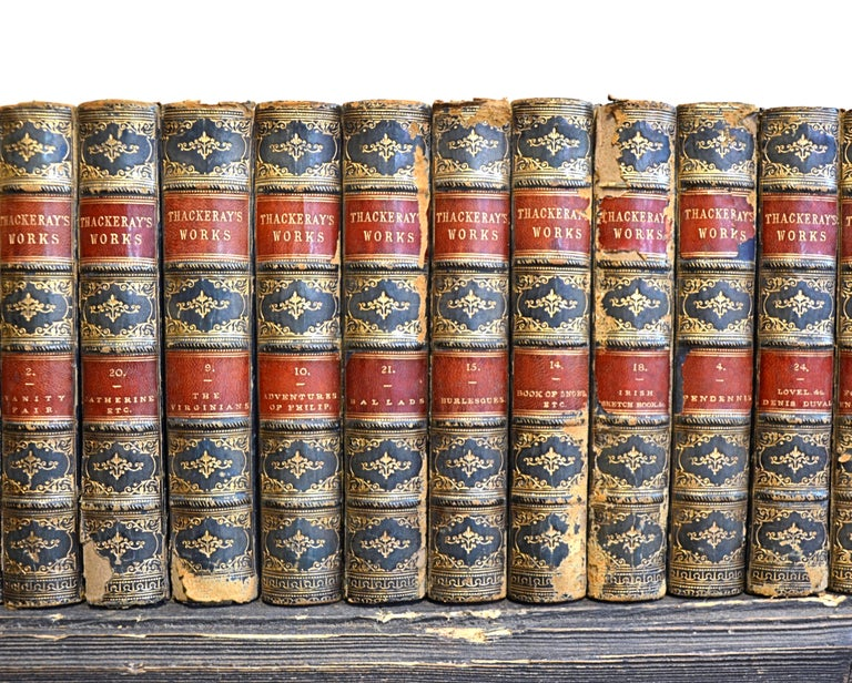 Collection of English Leather Bound Works by William M. Thackray, Series 209 For Sale 1