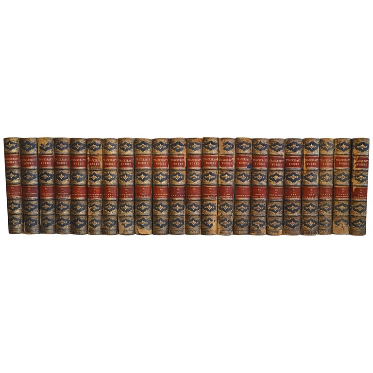 Collection of English Leather Bound Works by William M. Thackray, Series 209 For Sale