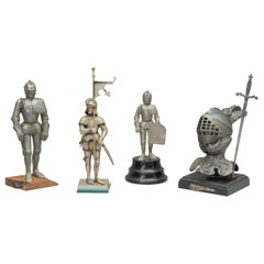 Collection of Figural Lighters in the form of Knights