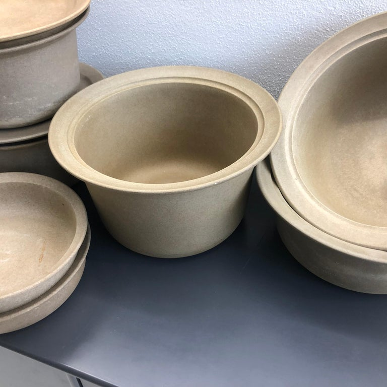 Modernist Collection of Firepot from Royal Copenhagen For Sale
