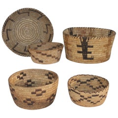Collection of Five Indian Baskets