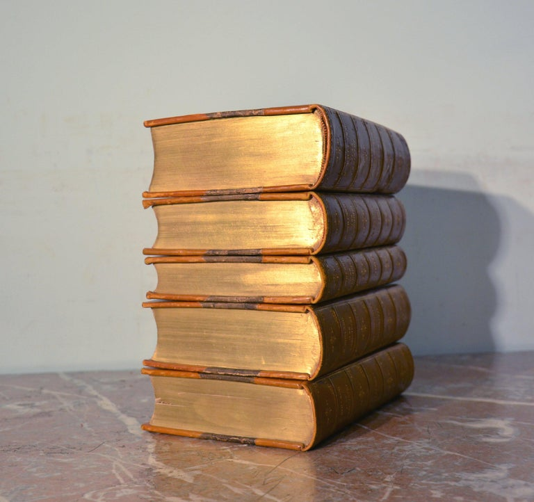Collection of Five Leather Bound Books, Series 129 For Sale 1