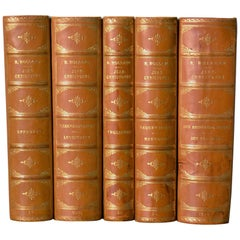 Collection of Five Leather Bound Books, Series 129