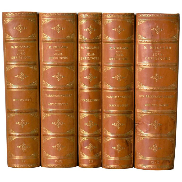 Collection of Five Leather Bound Books, Series 129 For Sale
