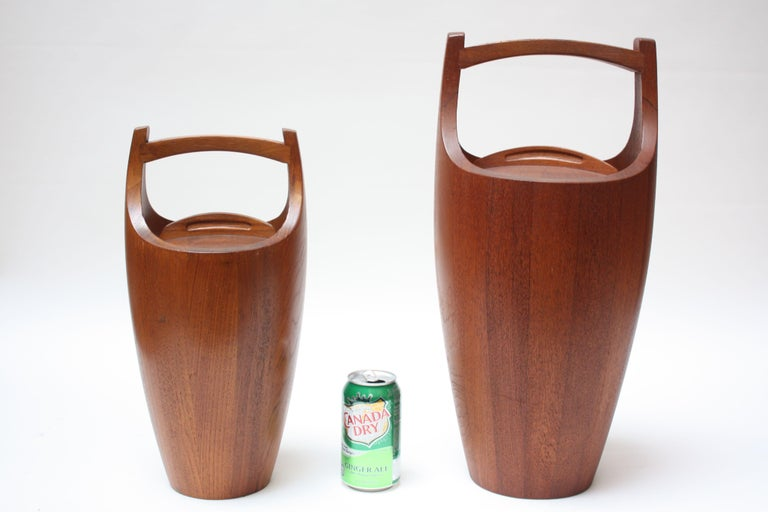 Collection of Five Staved Teak 'Congo' Ice Buckets by Jens Quistgaaard for Dansk For Sale 3