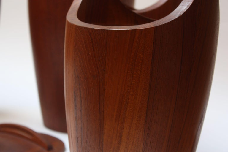 Collection of Five Staved Teak 'Congo' Ice Buckets by Jens Quistgaaard for Dansk For Sale 5
