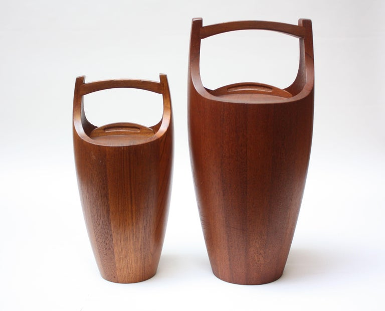 Collection of Five Staved Teak 'Congo' Ice Buckets by Jens Quistgaaard for Dansk For Sale 1