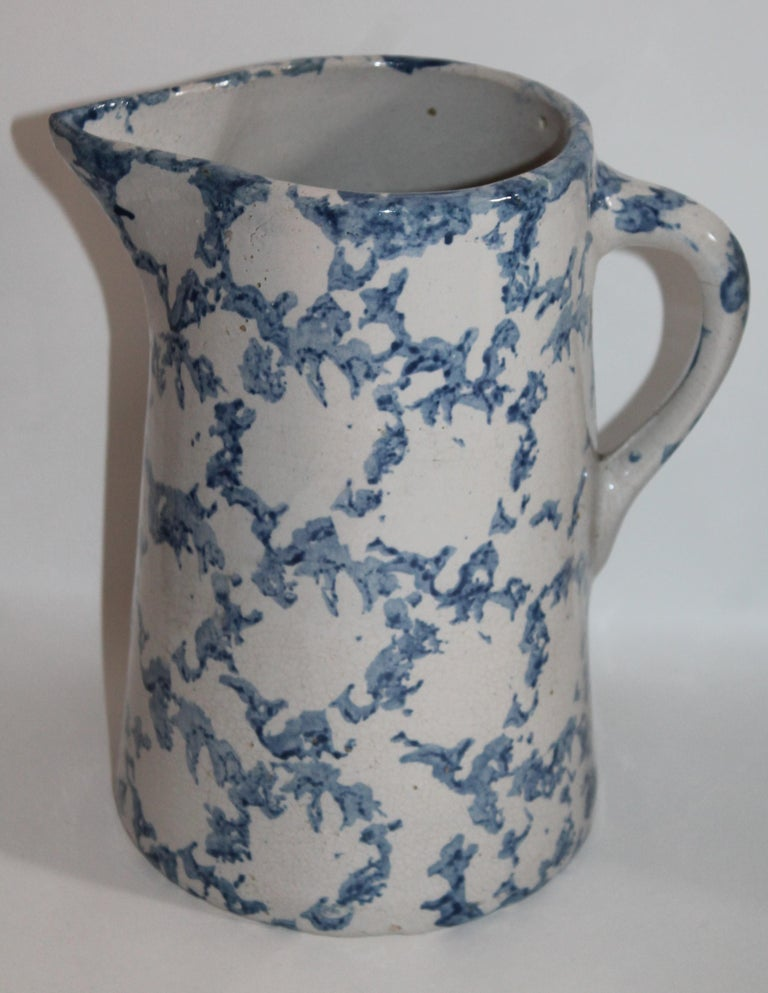 Collection of Four 19th Century Design Sponge Ware Pitchers In Good Condition For Sale In Los Angeles, CA