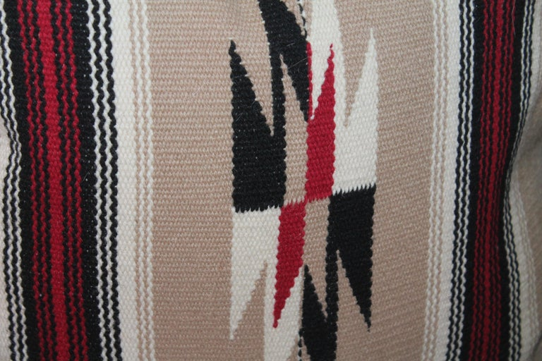 Hand-Woven Collection of Four Mexican/ American Indian Weaving Serape Pillows For Sale