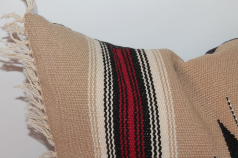 Collection of Four Mexican/ American Indian Weaving Serape Pillows In Good Condition For Sale In Los Angeles, CA