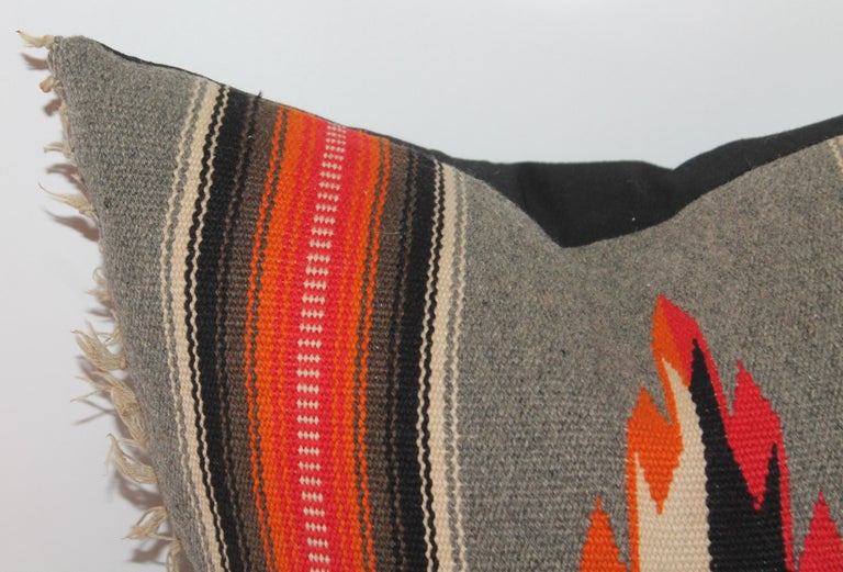 Mid-20th Century Collection of Four Mexican/ American Indian Weaving Serape Pillows For Sale