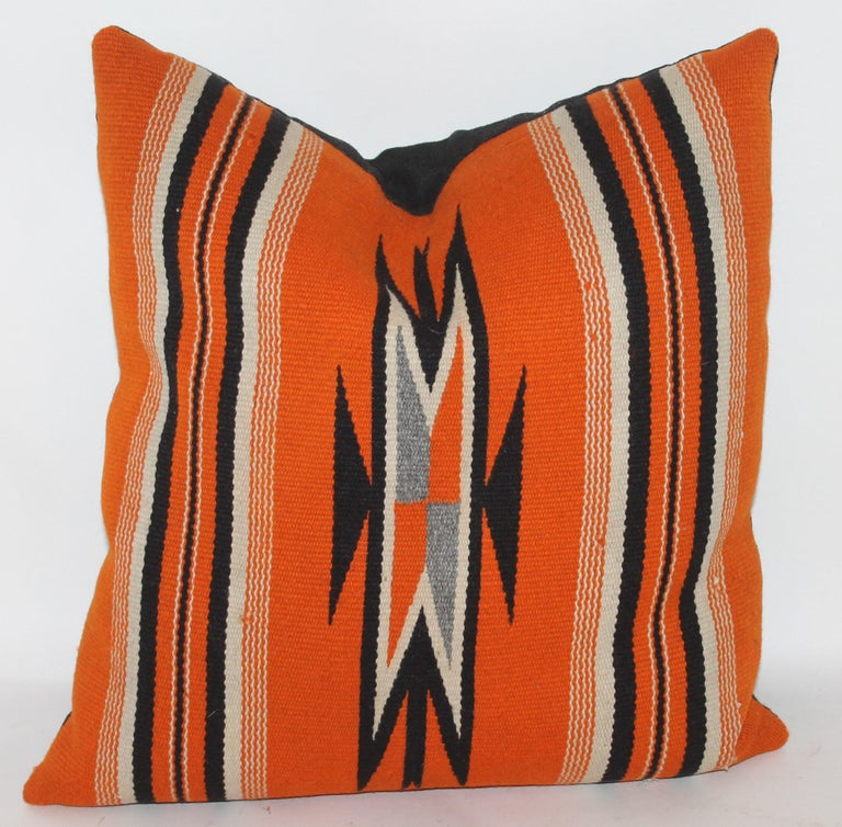 Wool Collection of Four Mexican/ American Indian Weaving Serape Pillows For Sale