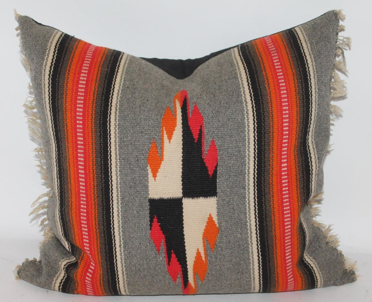 Collection of Four Mexican/ American Indian Weaving Serape Pillows For Sale 1