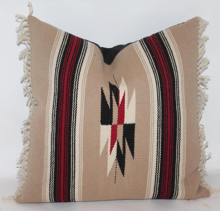 Collection of Four Mexican/ American Indian Weaving Serape Pillows For Sale 2