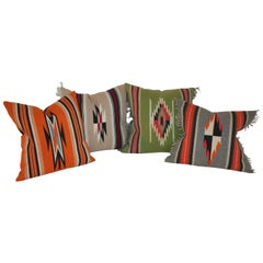Collection of Four Mexican/ American Indian Weaving Serape Pillows