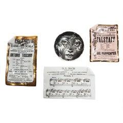 Sammlung aus vier Objekten von Piero Fornasetti, 1960er Jahre