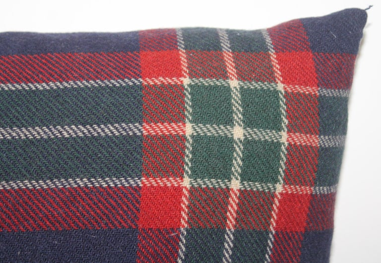 American Collection of Four Plaid Blanket Pillows / 4 For Sale