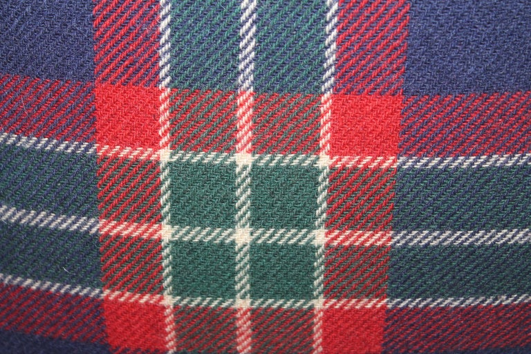 Collection of Four Plaid Blanket Pillows / 4 In Good Condition For Sale In Los Angeles, CA