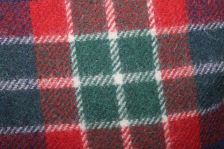 20th Century Collection of Four Plaid Blanket Pillows / 4 For Sale