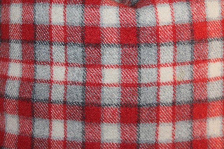 Collection of Four Plaid Camp Blanket Pillows In Good Condition For Sale In Los Angeles, CA