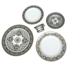 Collection of Four Versace for Rosenthal Porcelain Dining Plates circa 1990s