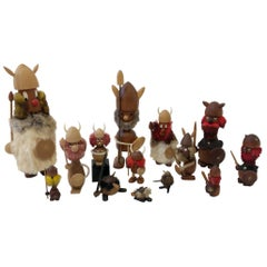 Collection of Fourteen Danish Vikings by Hans Bolling and Bojesen
