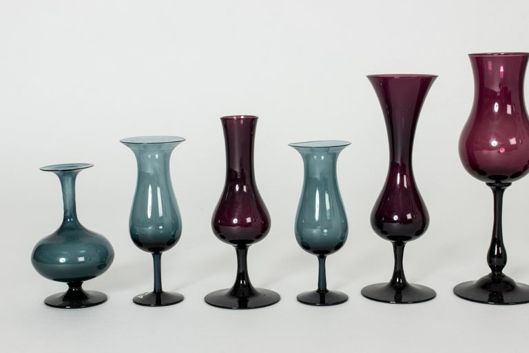 Collection of Glass Vessels by Arthur Percy and Hugo Gellin In Good Condition For Sale In Stockholm, SE