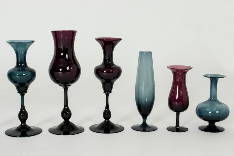 Collection of Glass Vessels by Arthur Percy and Hugo Gellin For Sale 2