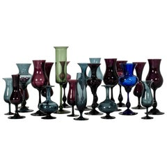 Collection of Glass Vessels by Arthur Percy and Hugo Gellin