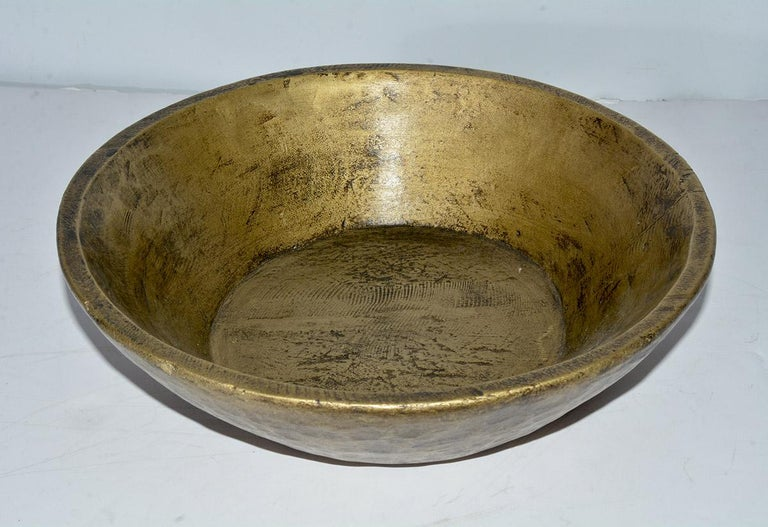 Asian Collection of Gold Giltwood Serving Bowls For Sale