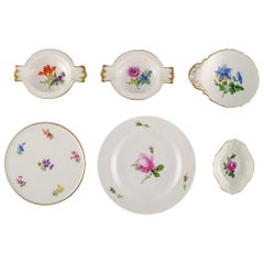 Collection of Hand Painted Meissen Porcelain, Early 20th Century