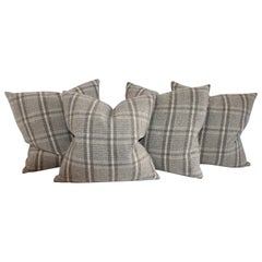 Collection of Handwoven Plaid Pillows 4
