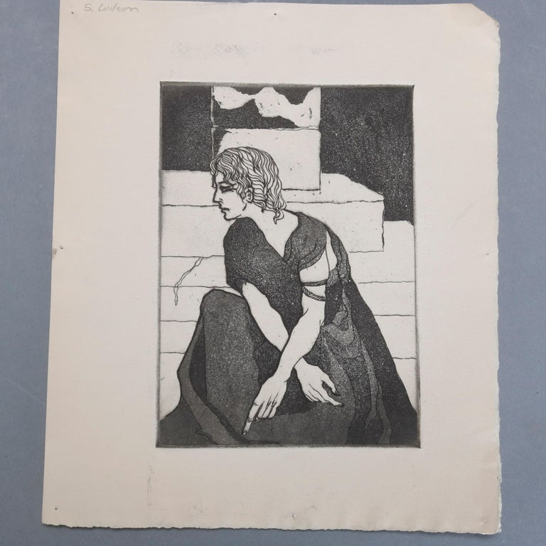 American Collection of James Joseph Kearns Expressionist Lithographs with Figures For Sale