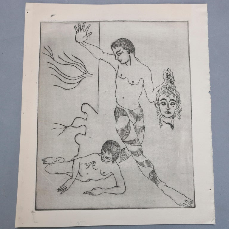 20th Century Collection of James Joseph Kearns Expressionist Lithographs with Figures For Sale