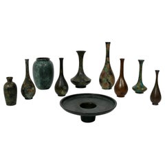 Collection of Japanese Bronze Vases