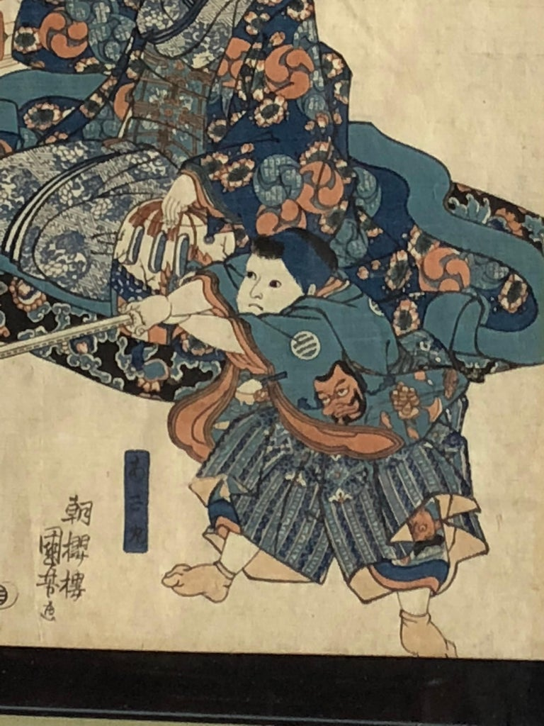 Collection of Japanese Wood-Block Prints, 19th Century For Sale 9